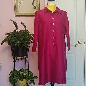 Lands End silk dress 12